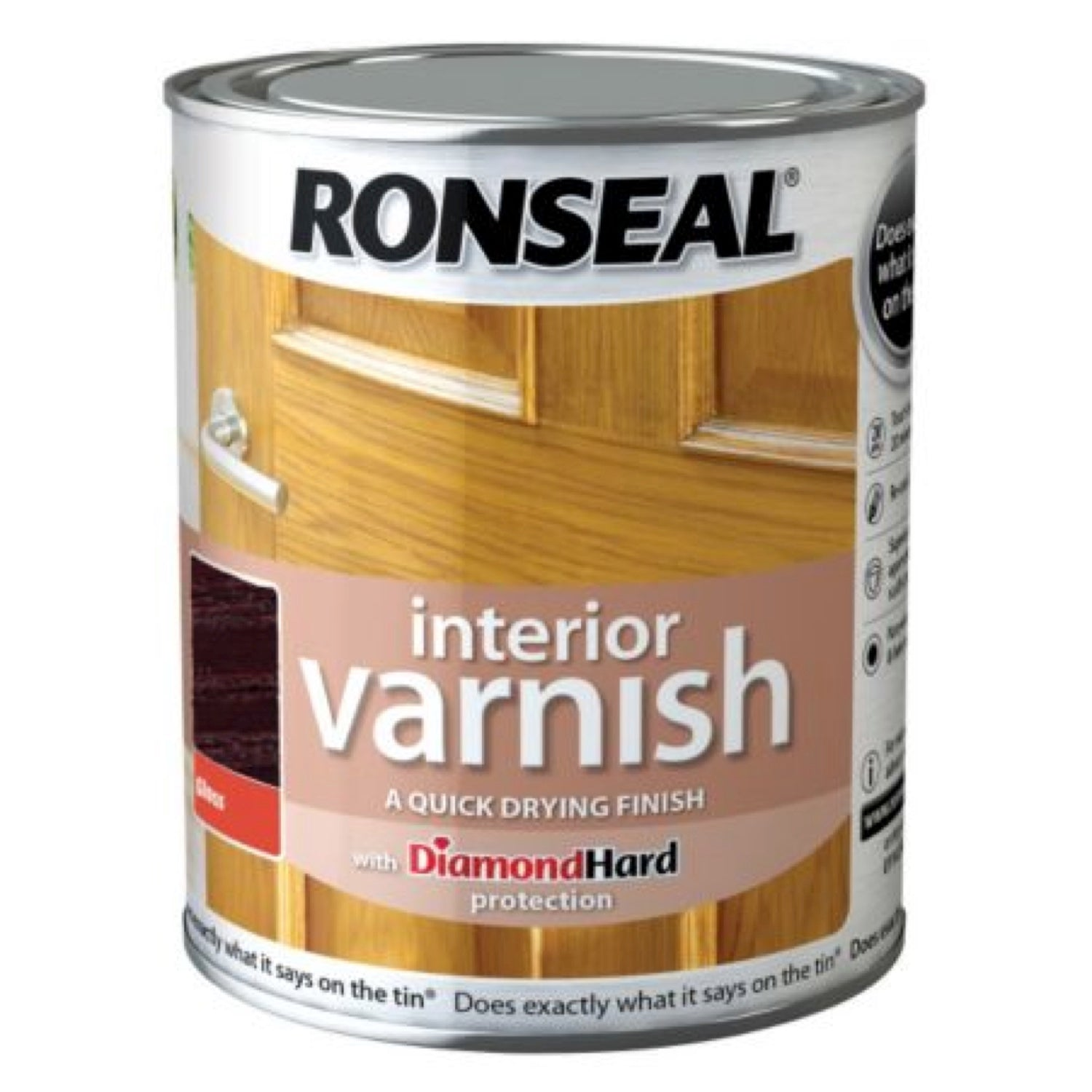 Ronseal Interior Varnish Walnut Satin 250ml