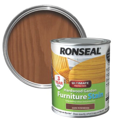 Ronseal Garden Furniture Stain Dark Rosewood 750ml