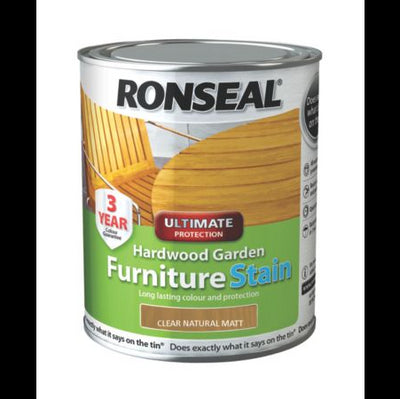 Ronseal Garden Furniture Stain Clr Natur Matt 750ml