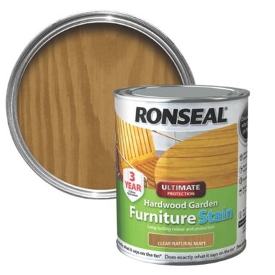 Photo of Ronseal Garden Furniture Stain Clr Natur Matt 750ml