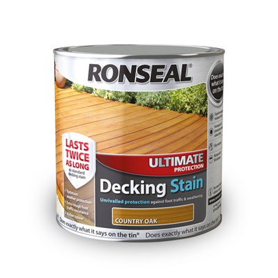 Photo of Ronseal Ultimate Protection Decking Stain Rich Teak 2.5L