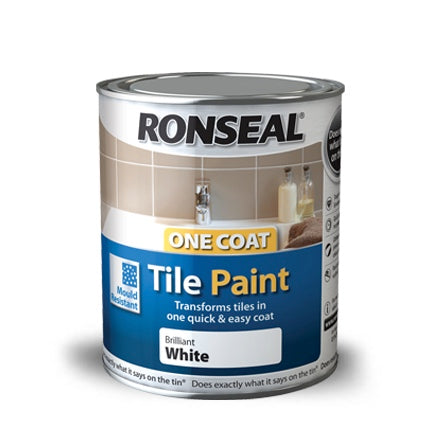 Ronseal One Coat Tile Paint Black 750 ml