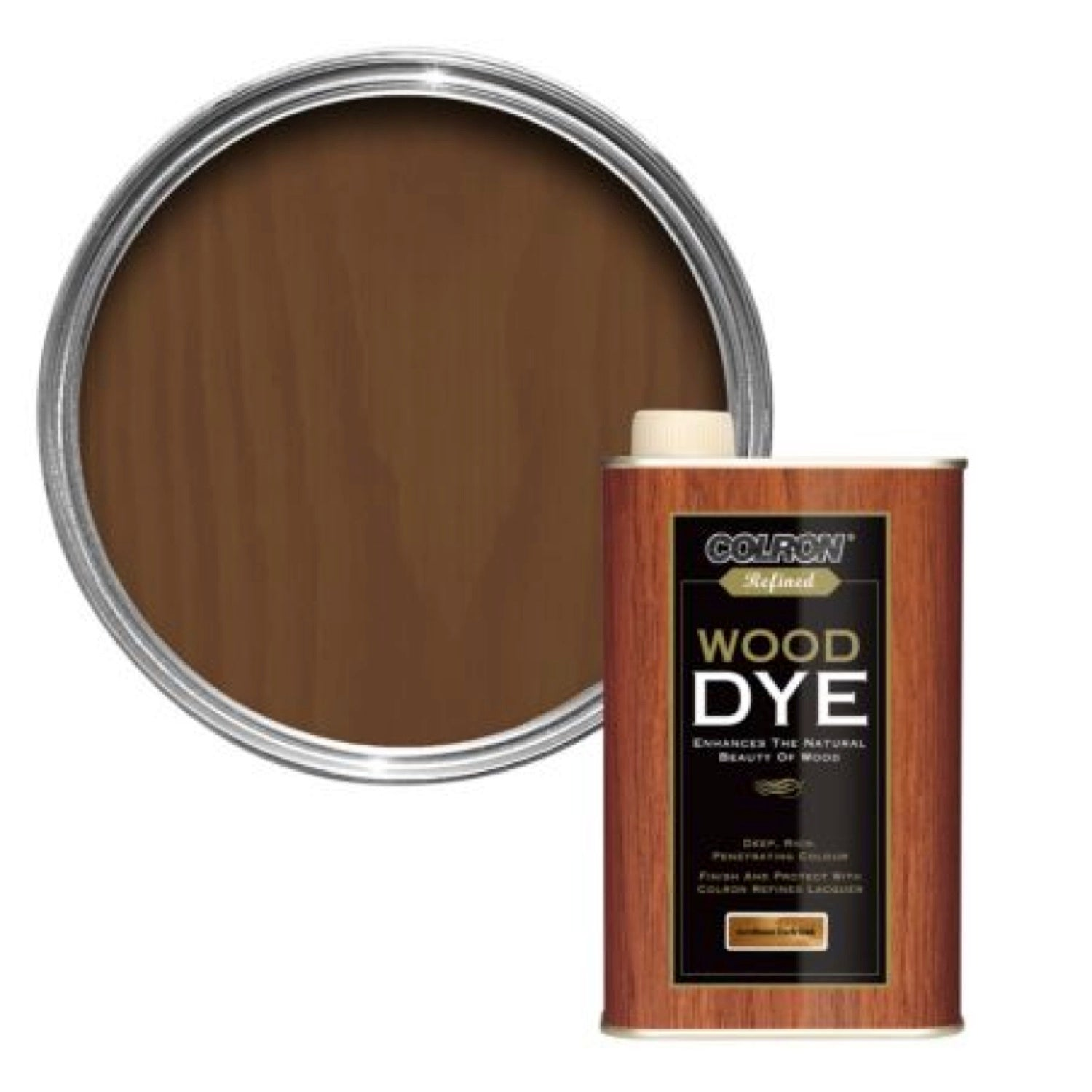 Colron Wood Dye (Jacobean Dark Oak) 250ml