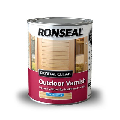 Photo of Ronseal Crystal Clear Outdoor Varnish Matt 250ml