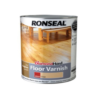 Photo of Ronseal Diamond Hard Floor Varnish Clear Gloss 2.5L
