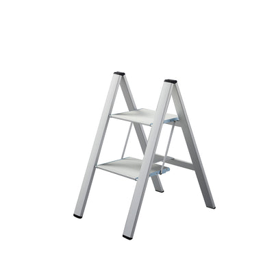 Featured Product Photo for Lucano Slim Step Aluminum Stepstool 2 Step Silver