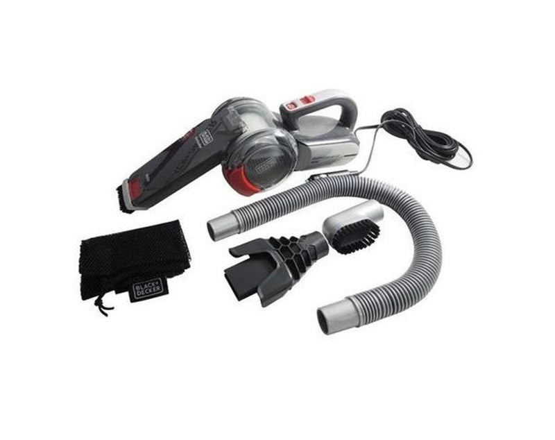 B&D PD1200AV-B1 12V Flexi Cyclonic Car Dustbuster Full Set