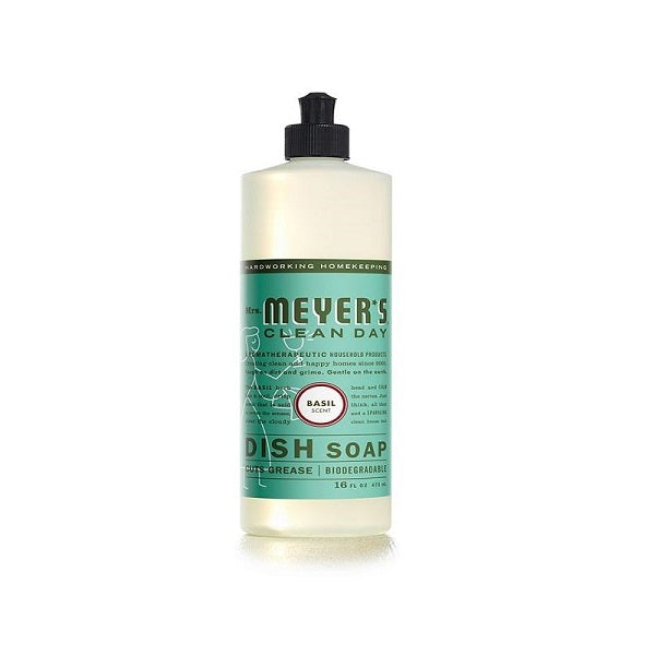 Mrs. Meyer's  Liquid Dish Soap Basil 16oz
