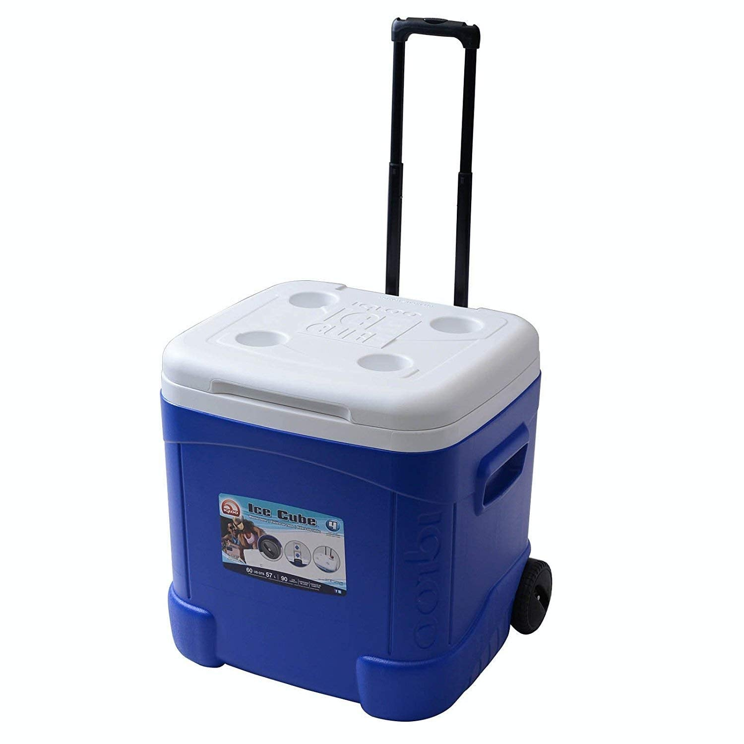 Igloo 45097 Ice Cube Roller Cooler 60Qt