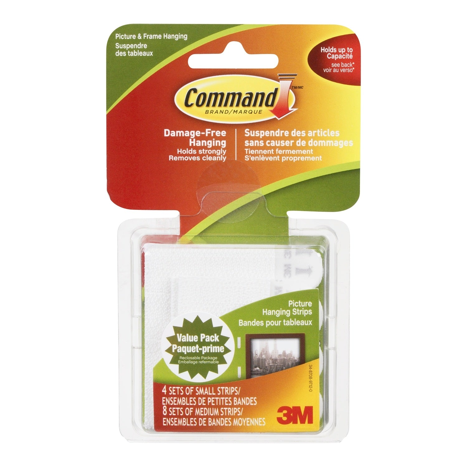 3m Command Small Medium Picture Hanging Strips Value Pack