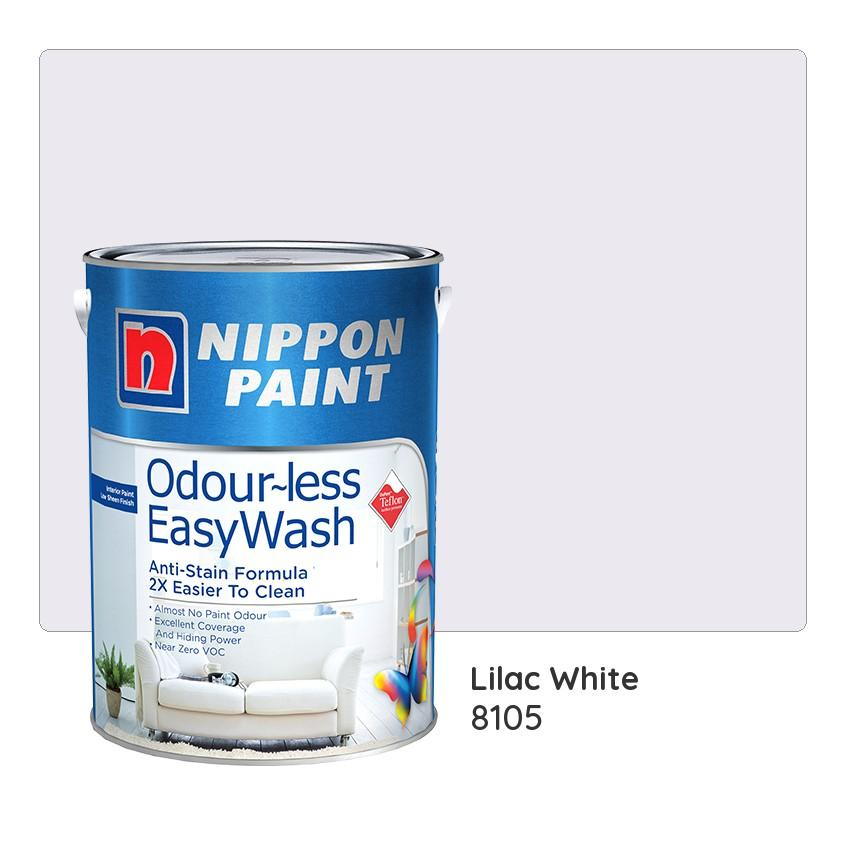 Nippon Paint Odour Less Easywash 8105 Lilac White