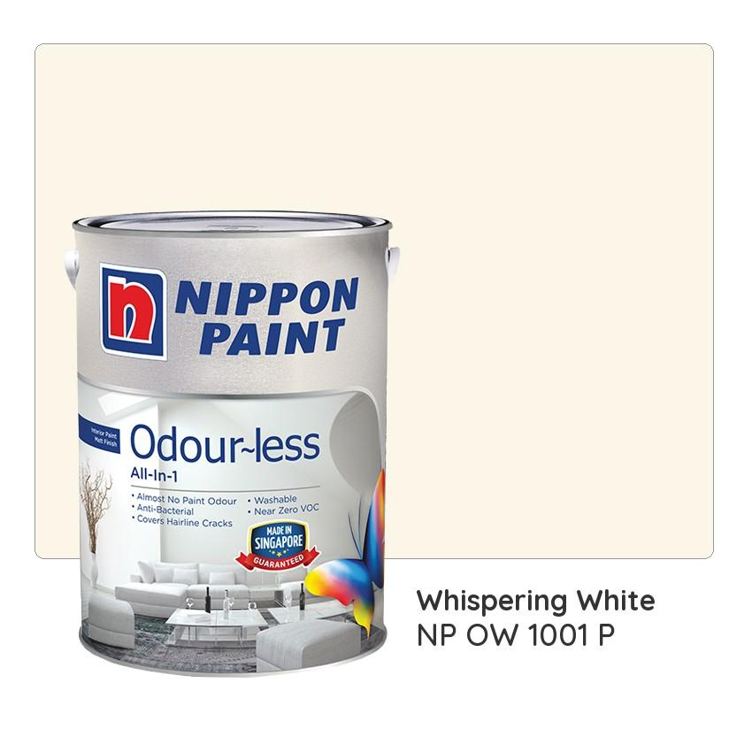 Nippon Paint Odour-less All-in-1 NP OW 1001 P (Whispering White)
