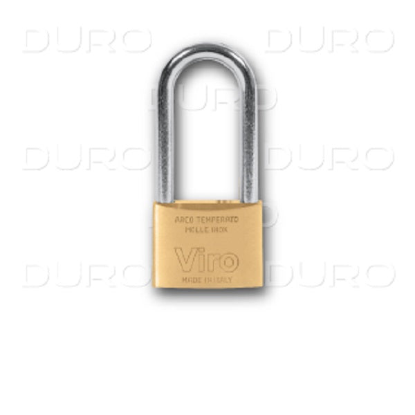 Viro Rectangular Long Shackle Padlock 50mm