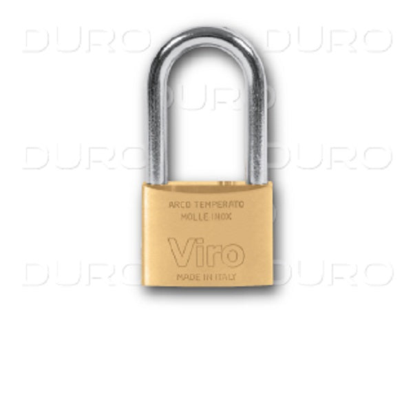 Viro Rectangular Long Padlock 60mm w/ Patent Key