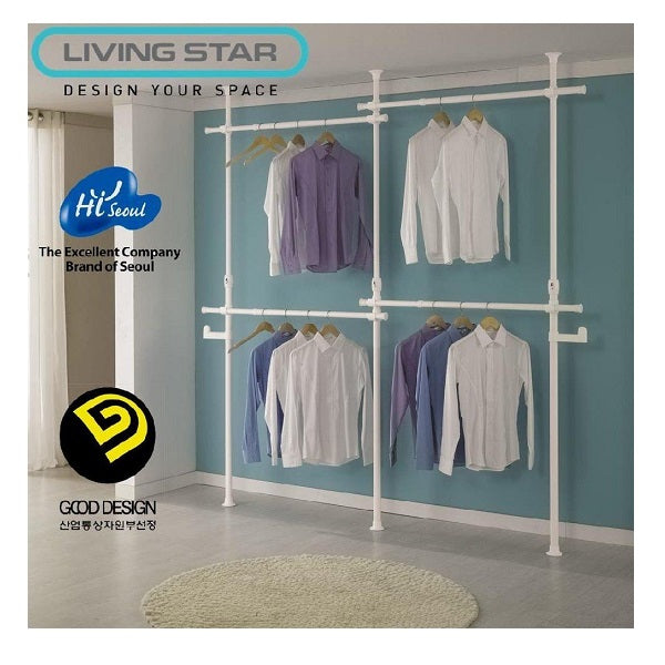 Living Star 4 Tiers Flexible Clothes Rack