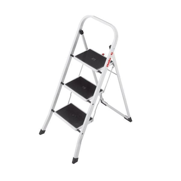 Hailo 3 Steel Steps White