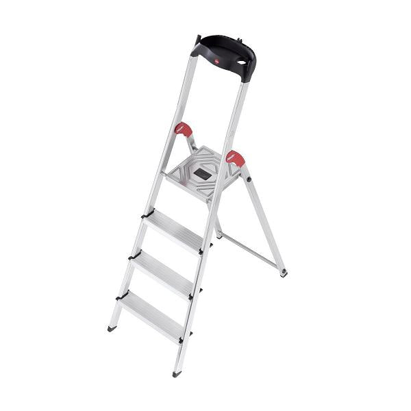 Hailo L60 Aluminium Safety Ladder 4 Steps