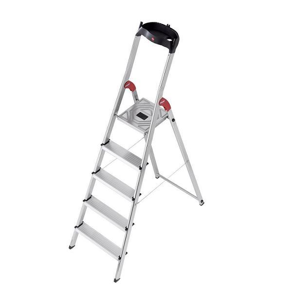 RENT - Hailo L60 Aluminium Safety Ladder 5 Steps