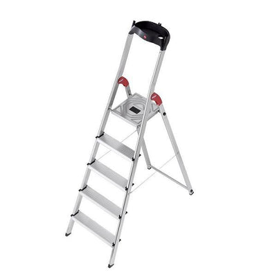 Photo of RENT - Hailo L60 Aluminium Safety Ladder 5 Steps
