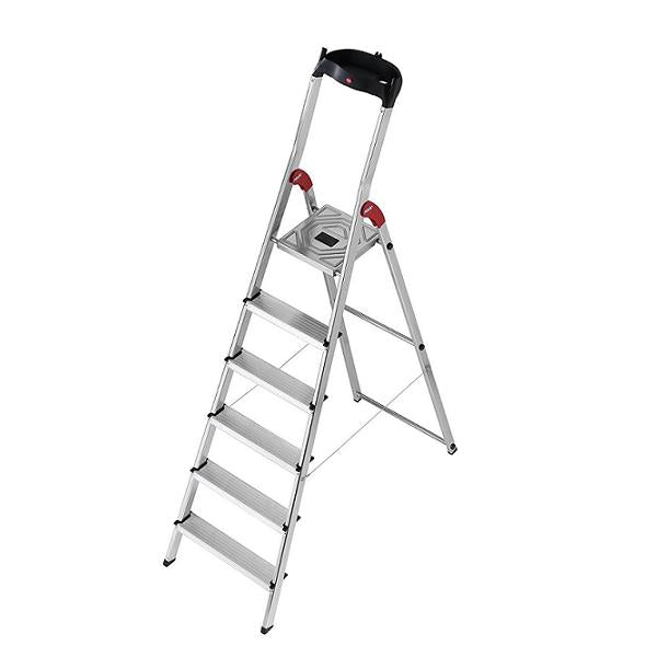 Hailo L60 Aluminium Safety Ladder 6 Steps