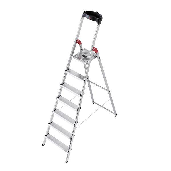 RENT - Hailo L60 Aluminium Safety Ladder 7 Steps