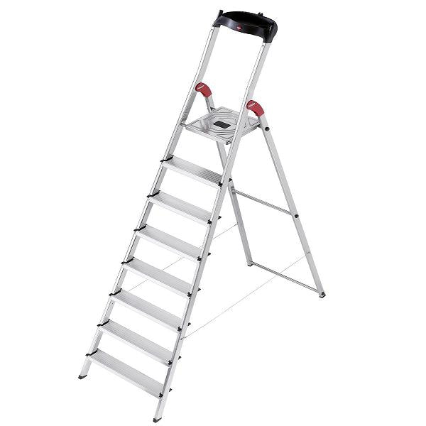 Hailo L60 Aluminium Safety Ladder 8 Steps