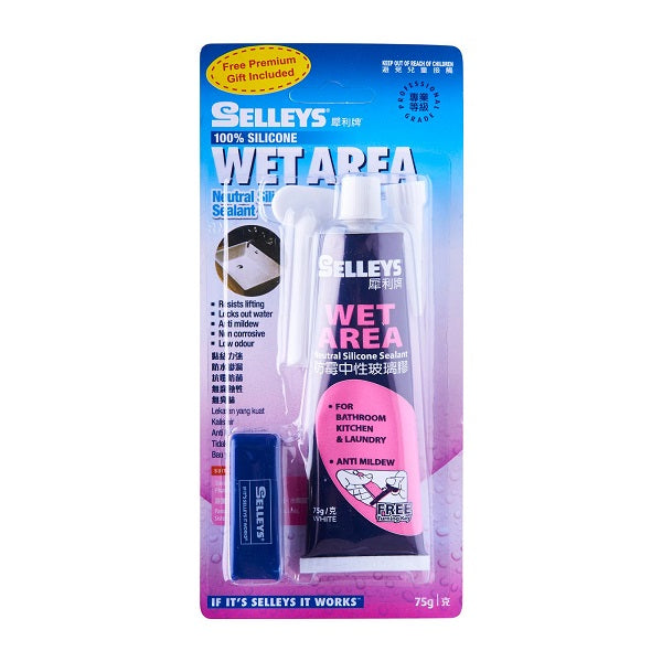 Selleys Wet Area White Silicone 75G