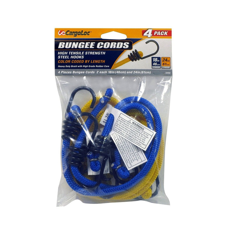 Cargoloc 18/24in Bungee Cords 4 Pcs Pack