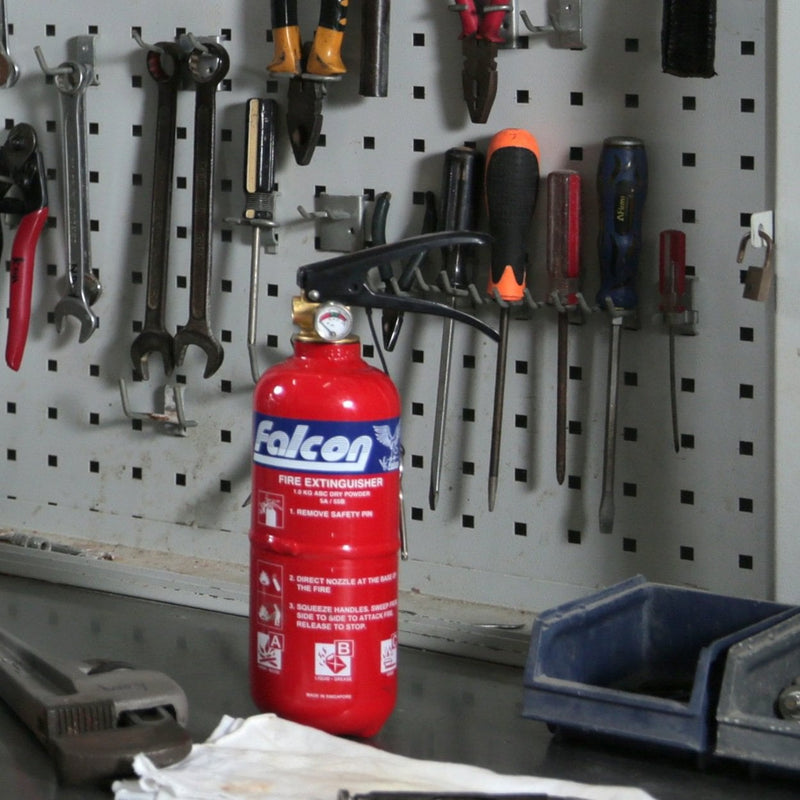 Falcon 1Kg ABC Dry Powder Fire Extinguisher