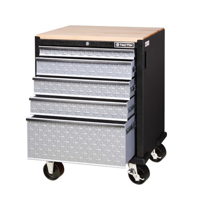 Tactix 5 Drawer Rolling Cabinet (67cm)