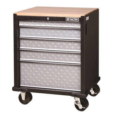 Photo of Tactix 5 Drawer Rolling Cabinet (67cm)