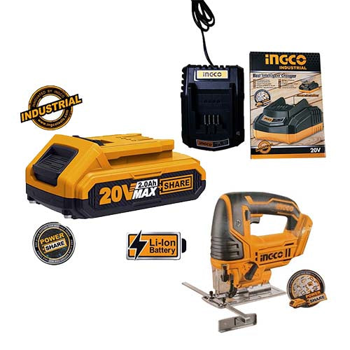 Ingco Li-Ion Cordless Jig Saw KIT (with Battery + Charger)