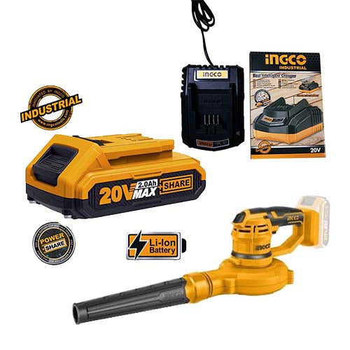 Ingco Li-Ion Cordless Blower KIT (Battery + Charger)