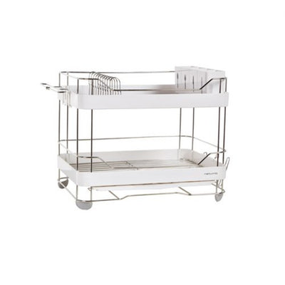 Naturinic White System Double Layer Dish Rack
