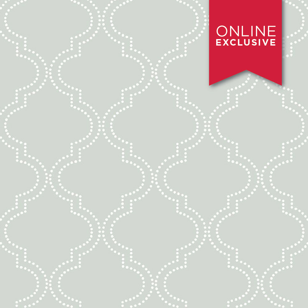 Wall Pops NU1649 NuWallpaper Quatrefoil Grey
