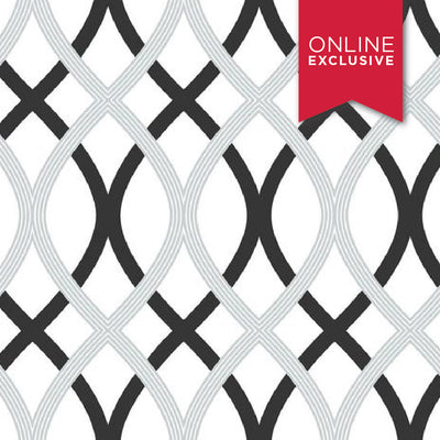 Photo of Wall Pops NU1658 NuWallpaper Lattice Black/White