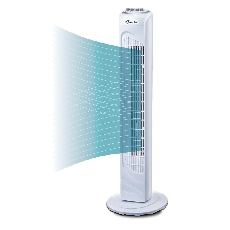 "PowerPac 29"" Tower Fan with Oscillation & Timer (PPTF290)"