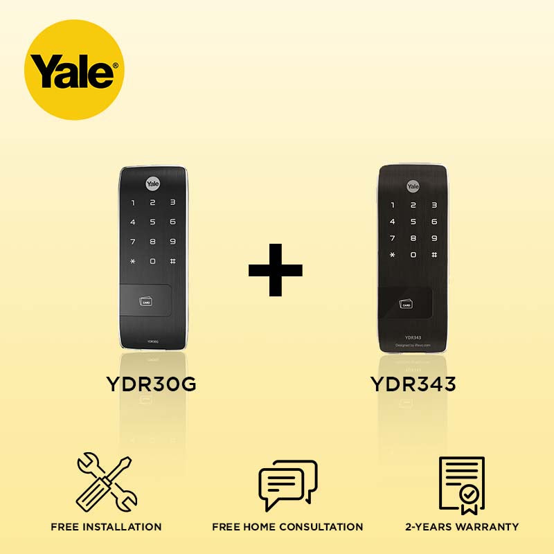 Yale YDR30G + YDR343 Digital Door Lock