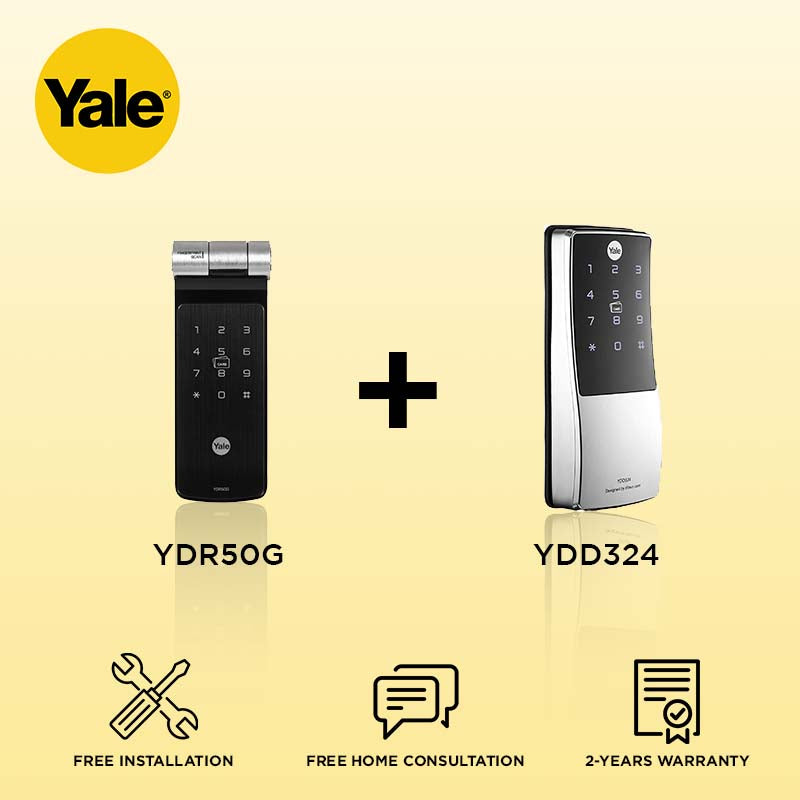 Yale YDR50G + YDD324 Digital Door Lock