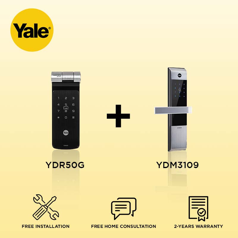Yale YDR50G + YDM3109 Digital Door Lock