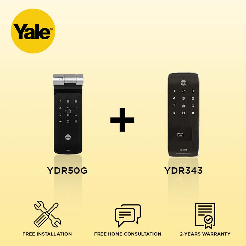 Yale YDR50G + YDR343 Digital Door Lock