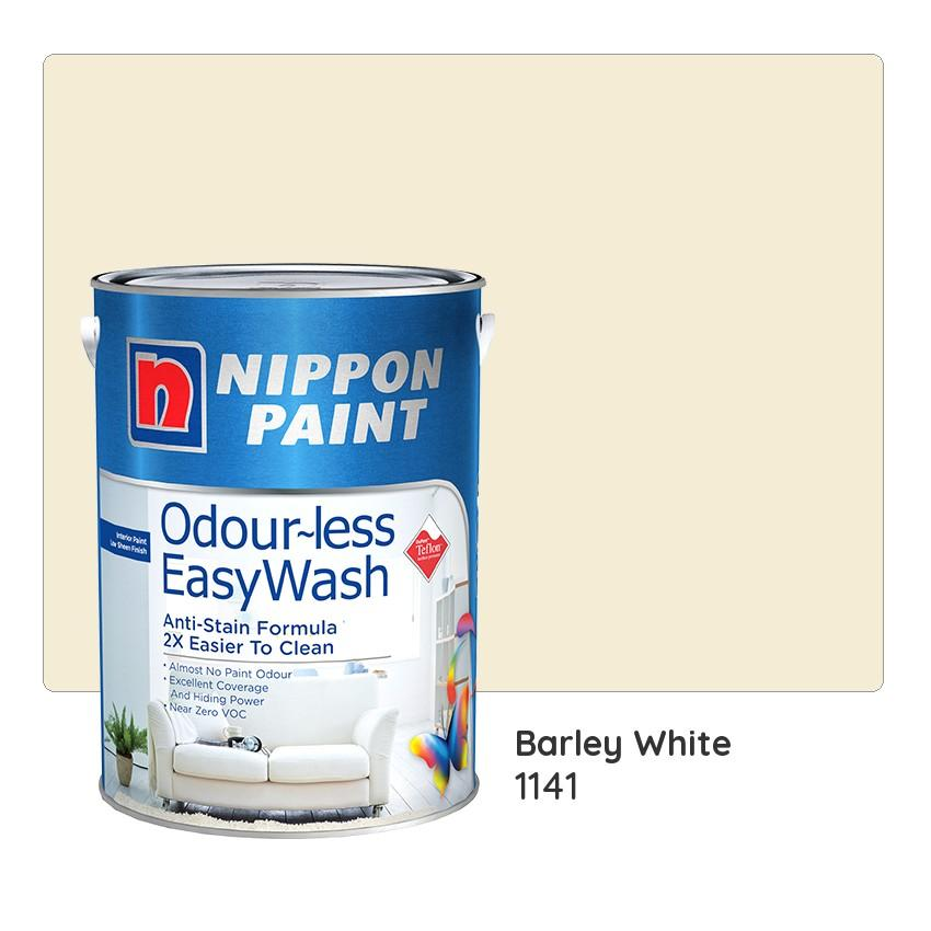 Nippon Paint Odour Less Easywash 1141 Barley White