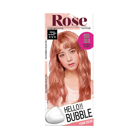 Mise En Scene  Hello Bubble Hair Foam Color - Rose Gold 11RG