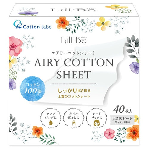 Cotton Labo Lill Be Airy Cotton Sheet 40 Sheet