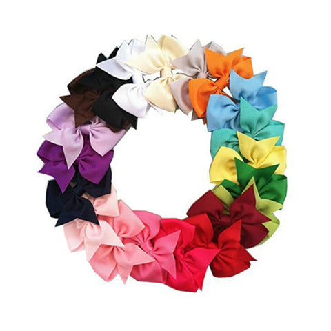 20 PC Handmade Boutique Hair Bow Grips