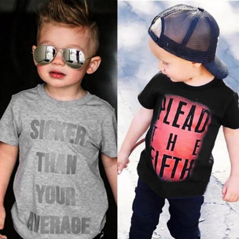 Boys Slick Mouth Letter Tee