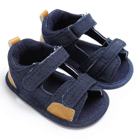 Canvas Sole Crib Sandals