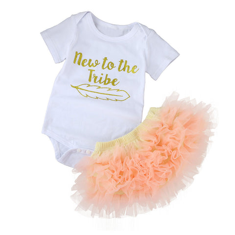 2 PC New to the Tribe Tutu Skirt Set
