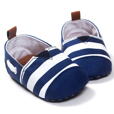 Blue Nautical Slip-On Shoes