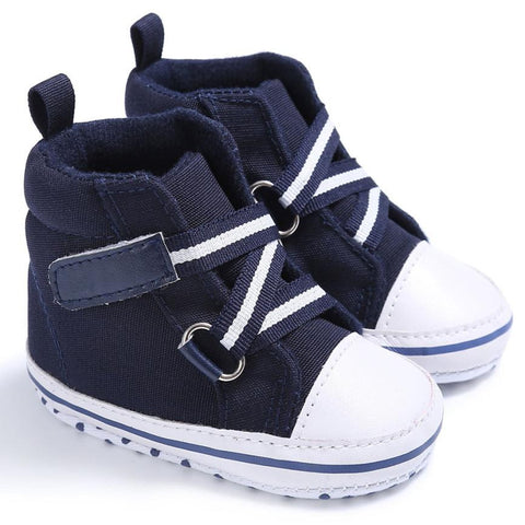 Dark Blue High Top Sports Sneakers